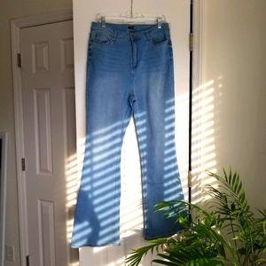 Light Blue High Waist Flare Jeans